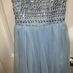 Light blue jeweled spring fling dress